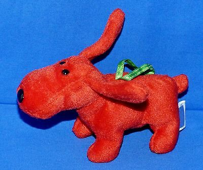 """Ty ROVER Red """"Clifford"""" Dog Christmas (5"""") Jingle Beanie 2001 Boys Girls 3+ NT"""