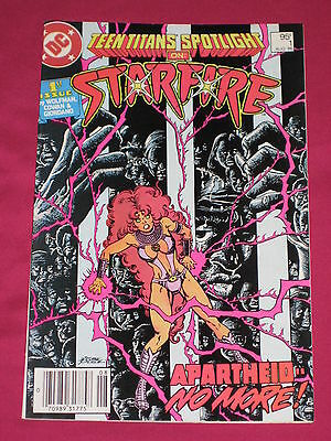 Teen Titans Spotlight #1 Starfire DC Comics 1986  Bagged & Boarded