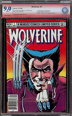 Wolverine Limited Series #1...CBCS 9.0...Frank Miller Verified Signature...SS