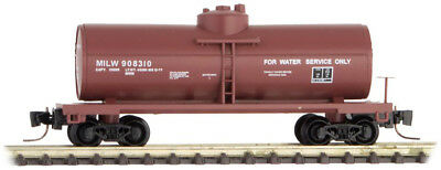 Micro-Trains MTL Z-Scale 39ft. Single Dome Tank Car Milwaukee Road/MILW #908310