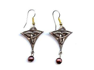Celtic Knot Pewter Earrings - Wires