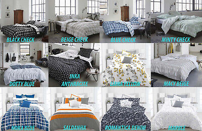 100% Cotton Printed Quilt Covers - Multiple Designs - King Queen Single Double