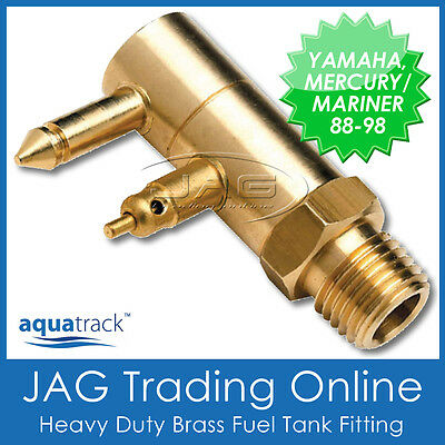 BRASS FUEL TANK END FITTING for YAMAHA & MERCURY/MARINER-Boat/Outboard Fuel Line