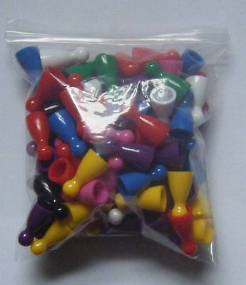100 Halma Pawns Plastic Board Games Pieces NEW