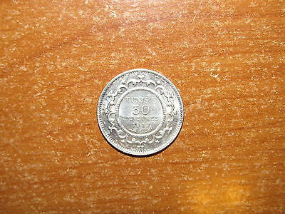 Tunisia 1917 A silver 50 Centimes coin Extremely Fine nice