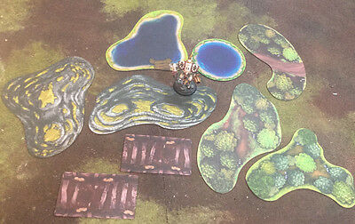 Muse on Minis - Terrain: 2D Table Pak Grasslands Theme *Cheap Overseas Shipping*