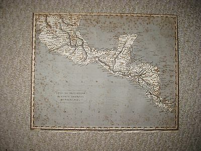 Early Antique 1811 Spanish Dominions In North America Mexico Central America Map