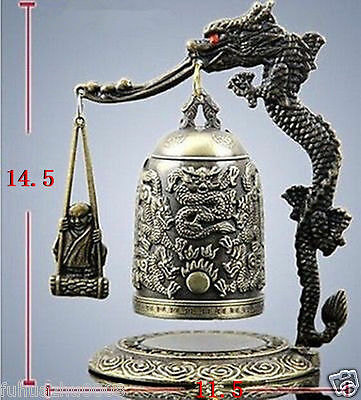 Exquisite Tibet style Carved Dragon buddha Bell