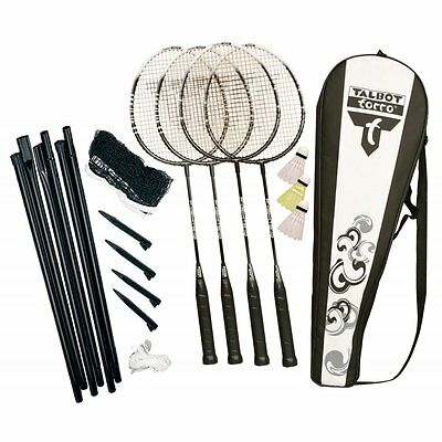 Talbot Torro Fighter Playset Badminton Sports Outdoor Play Complete 4 Player Set