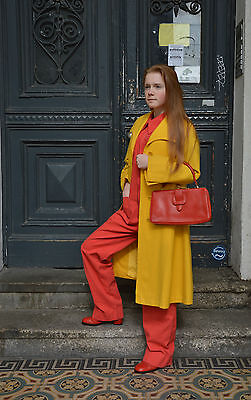 Damen Overall lang long Jumpsuit rot red 1970er TRUE VINTAGE 1970's Spitzkragen