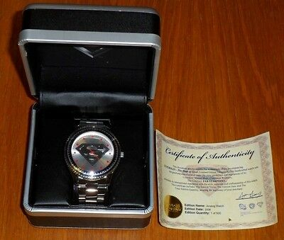 Superman Man Of Steel Fossil Collectible Watch With Original Box Ltd 500 Rare!