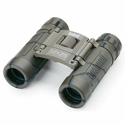 Bushnell 131226  Powerview 12x25 Compact Folding Roof Prism Binocular (Camo)