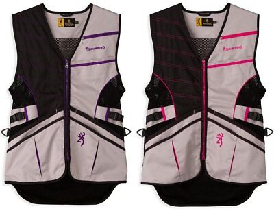 NWT Women's Browning Ace Shooting Vest for Her Gray Lightweight Size S-2XL