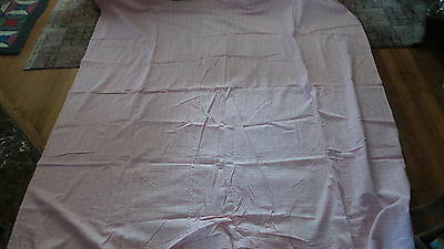"""Antique Cotton Lightweight DUVET OR TICK COVER Pink, White, & Gray Plaid 72""""X74"""""""