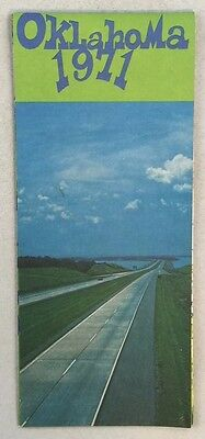 Vintage 1971 Oklahoma Highway Department Official State Highway Map