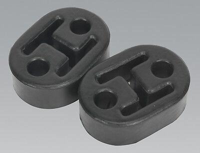 Genuine SEALEY EX02 | 2x Universal Exhaust Rubber Mount/Mounting Hanger Brackets