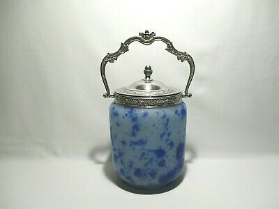 Ancien Pot A Biscuit Seau En Pate De Verre Bucket Jar Cookie Wanne Platzchen