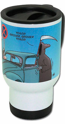 ULI STEIN Thermobecher Grosser Fehler Sensemann Becher Coffee TO GO Kaffeetasse