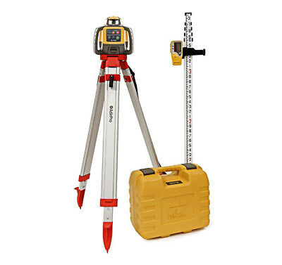 Topcon RL-H4C  Rotary Laser Kit Self Leveling 16' Grade Rod INCHES and Tripod