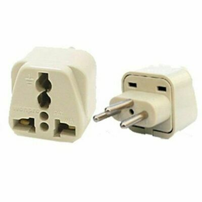 Travel Universal Plug Adapter Type J for Swiss, Switzerland - 2 Pack (Grounded)