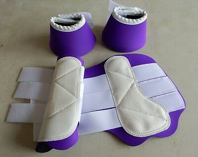Horse 1 pair Exercise Boots & 1 pair Bell Boots Your choice of colour and Size