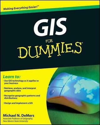 GIS for Dummies by Michael N. DeMers (English) Paperback Book Free Shipping!