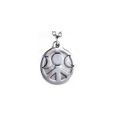Moons of Peace Pendant  - Pewter