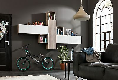 wohnwand in sand wildeiche woody 156 00335 eur 569 00 picclick de. Black Bedroom Furniture Sets. Home Design Ideas