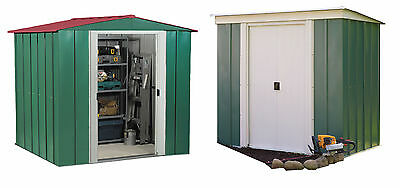 Arrow Metal Double Door Garden Shed - Choice of Size and Shape (Apex/Pent):Argos