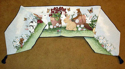 Saturday Afternoon ~ Easter Bunny Rabbits Tapestry Table Runner