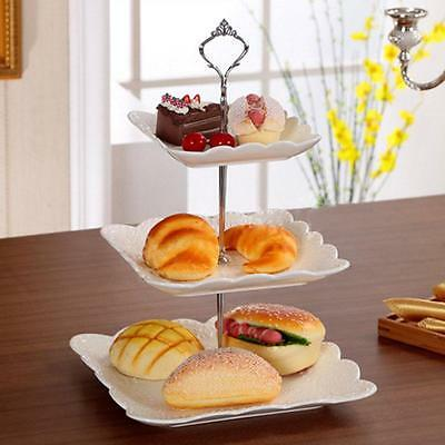 Stainless Steel 3-Tier Cake Stand Round Cupcake Wedding Party Display Tower