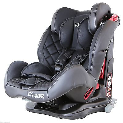 ISAFE Multi-Recline Car Seat Group 1-2-3   9 Months-12 Years Raven Black