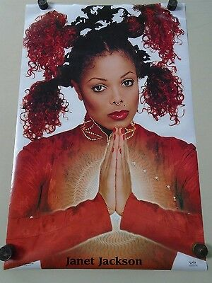 """Janet Jackson / Beautiful Orig. Poster #9020 /  Exc. new condition - 22 x 34"""""""