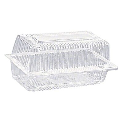 300 Clearview bar cake pack / plastic cake box clam food display size 20x10x10cm