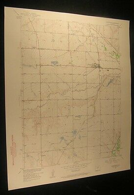 Johnstown Colorado Bunyan Hardman 1960 vintage USGS original Topo chart map