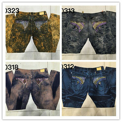 2016 New Jeans With long Flap Studded Wings For Men Size 32-42