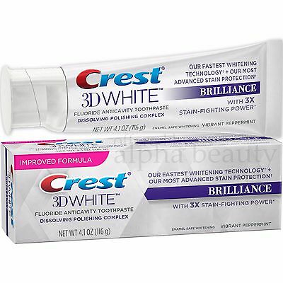 Crest 3D White Brilliance Vibrant Peppermint Whitening Toothpaste (4.1oz./116g)