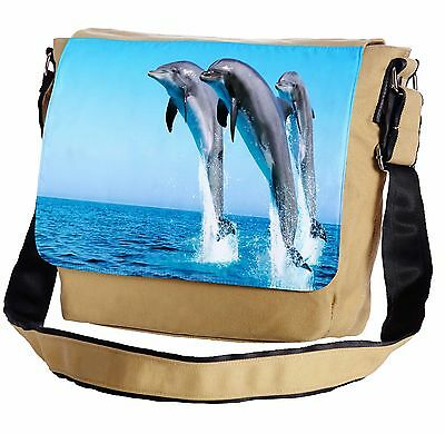 Dolphins Messenger Cross-Body Shoulder Flap Bag
