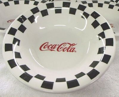 """Gibson--Coca Cola--Corner Cafe--Checker Board 8"""" Bowls--Very Nice--5 Available!"""