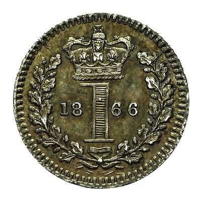 Queen Victoria Silver Maundy Penny 1866