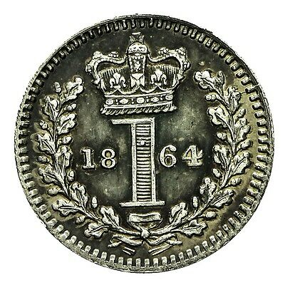 Queen Victoria Silver Maundy Penny 1864