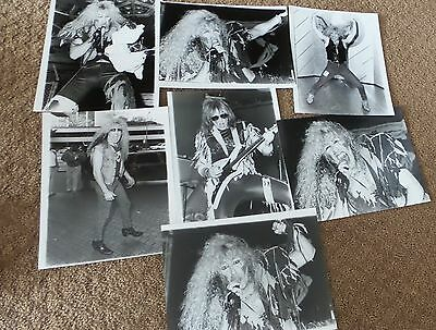 Dee Snider Twisted Sister Vintage Lot Of Orignal Photo Photograph