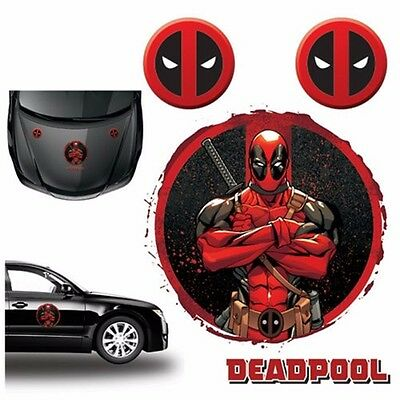 Deadpool Logo Car Graphics Decal Set Marvel Comics