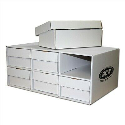 BCW Corrugated Cardboard Shoe Box Storage House with 6 Trading Card 2-Row Boxes