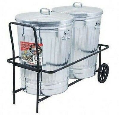 Behrens NTC501 TCC 2 Can Rolling Garbage / Trash Can Cart w 250 lb Capacity