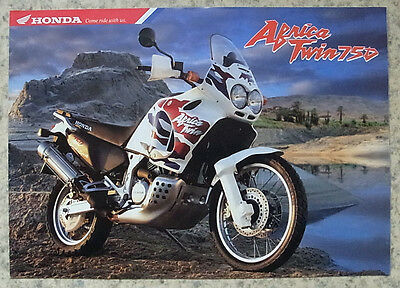 HONDA AFRICA TWIN 750 Motorcycle Sales Brochure Oct 1998 #6P 10.98 E-XRV750