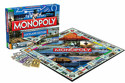 NEW IN BOX Hasbro Auckland New Zealand Edition MONOPOLY Board Game  8 years plus