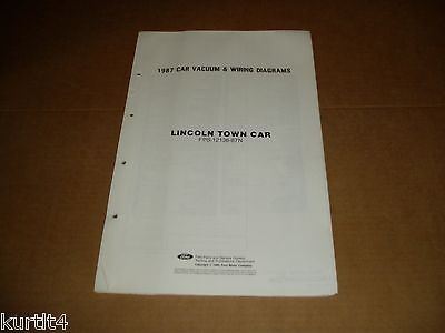 1987 lincoln town car wiring diagram sheet service shop manual