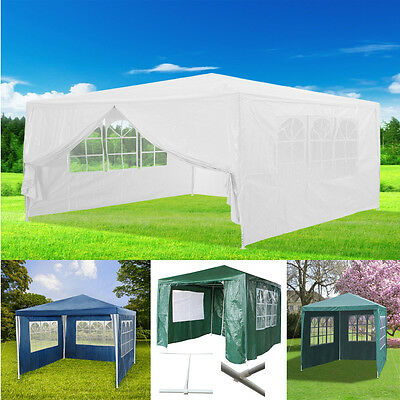3 Colours 3x3/4m  Waterproof Outdoor PE Garden Gazebo Marquee Canopy Party Tent