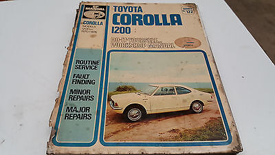1970 1971 1972 1973 1974 1975 1976 TOYOTA COROLLA 1200 Workshop Manual